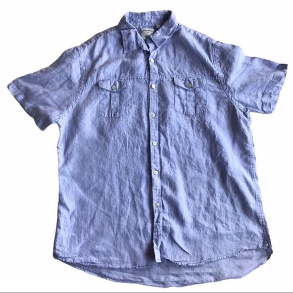 Baird McNutt 100% Linen Murano Button Down S/S XL